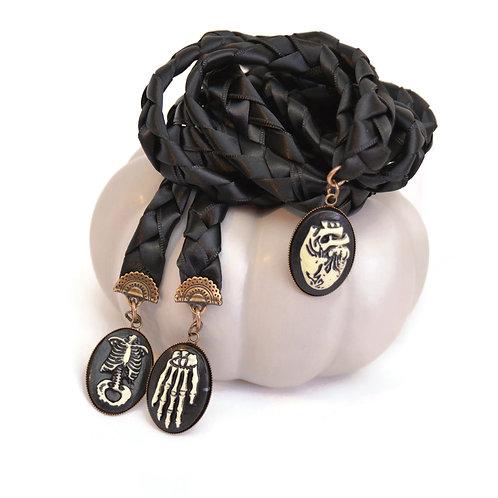 Limited Edition 3 Charm Halloween Pagan Wedding Handfasting Cord