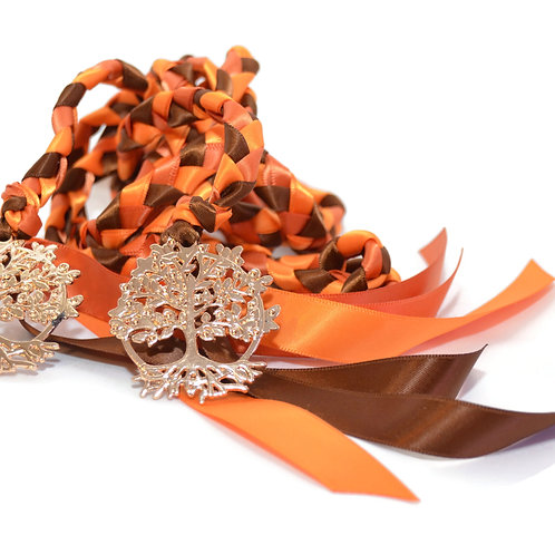 Golden Autumn Harvest Tree of Life Wedding Handfasting Cord