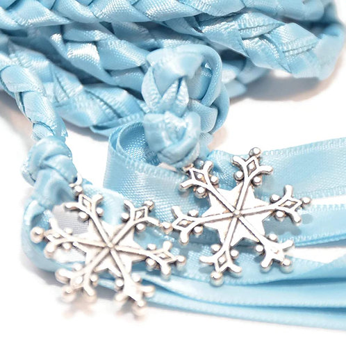 Limited Edition Crystal Blue Snowflake Wedding Handfasting Cord