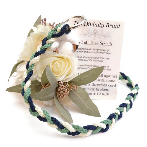 Divinity Braid Navy Sage Cord Of Three Strands #DivinityBraid