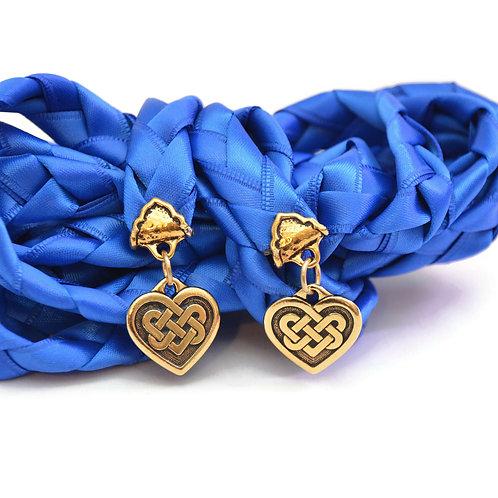 Royal Blue Celtic Heart Knot Wedding Handfasting Cord #handfasting #Celtic