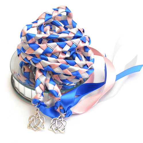 Royal Rose Silver Celtic Heart Wedding Handfasting Cord #Wedding