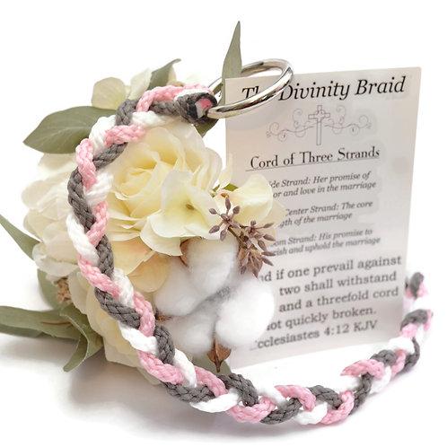 Divinity Braid Tickled Pink Pewter Cord Of Three Strands #DivinityBraid