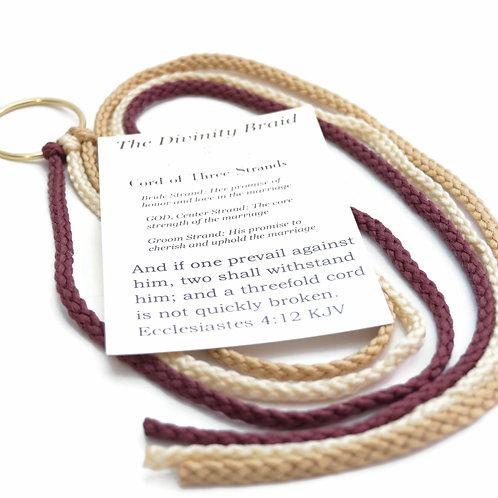 Divinity Braid Cord of Three Strands Rustic Plum Champagne #Wedding