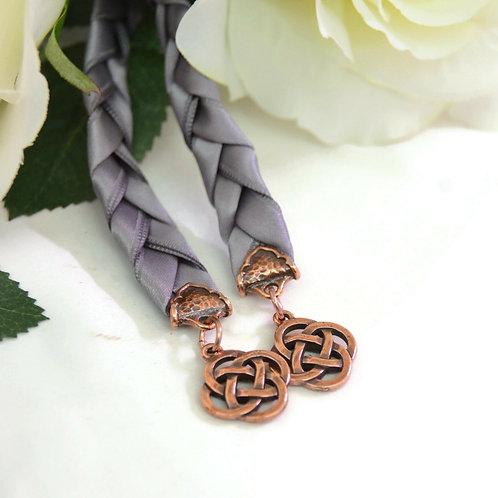 Gunmetal Gray Copper Celtic Knot Wedding Handfasting V4 Cord #Wedding