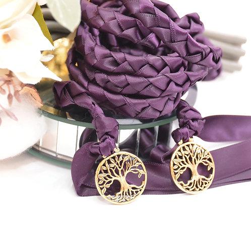 Eggplant Plum Elvish Tree Of Life Handfasting Cord #Wedding #Handfasting