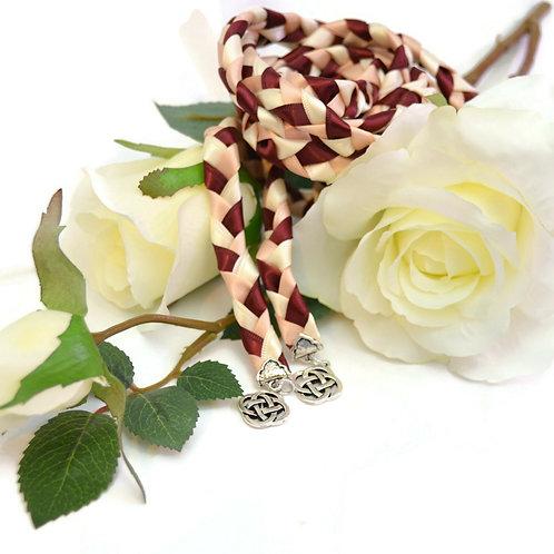 Blush Burgundy Wedding Handfasting Cord v4 #Wedding #Handfasting