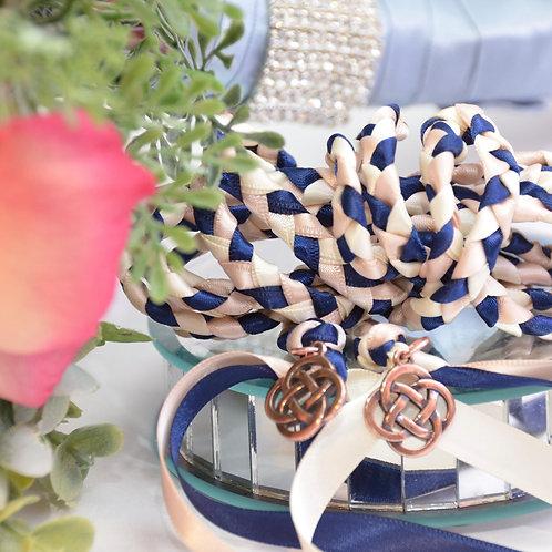 Navy Blush Champagne Wedding Handfasting Cord v2 #Wedding #Handfasting