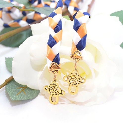 Divinity Braid Navy Gold Celtic Cross Wedding Handfasting Cord