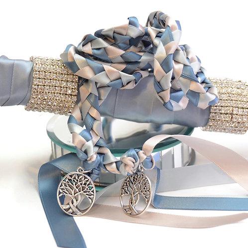 Steel Vapor Silver Tree Of Life Handfasting Cord #Wedding #Handfasting