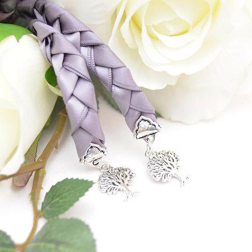 Gunmetal Gray Tree Of Life Handfasting v4 Cord #Wedding #Handfasting
