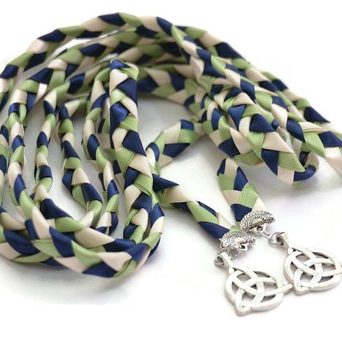 Divinity Braid Navy Sage Celtic Triquetra Wedding Handfasting 9ft Cord #Wedding