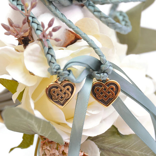 Sage Celtic Heart Knot Wedding Handfasting Cord #handfasting #Celtic