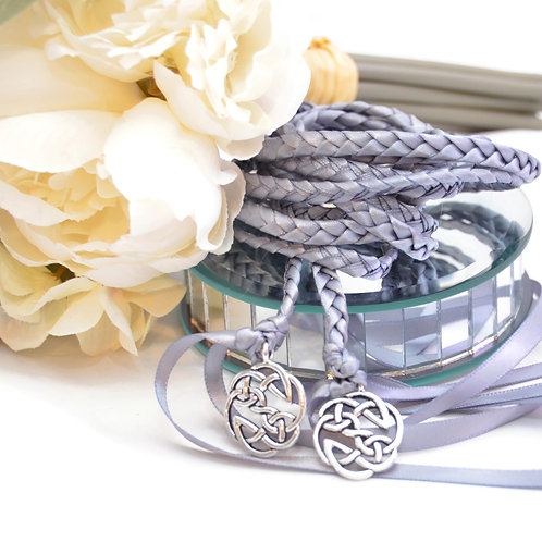 Gunmetal Gray Open Celtic Knot Wedding Handfasting Cord #Wedding #Handfasting
