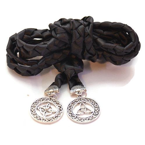 Black  Celtic Knot Wedding Handfasting Cord