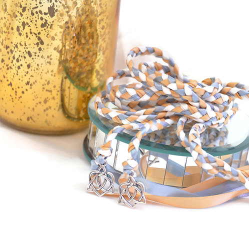 Dusty Champagne Celtic Heart Knot Wedding Handfasting Cord #Handfasting #Celtic