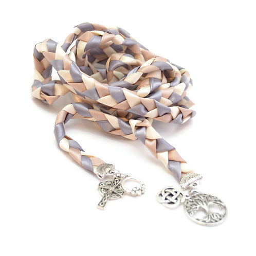 Celtic 4 charm Silver Wedding Handfasting 6ft Cord