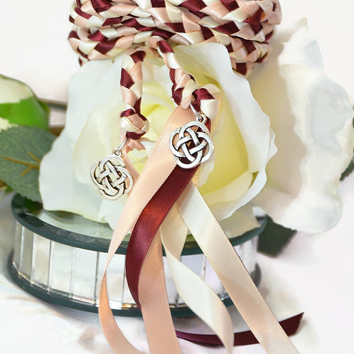 Blush Burgundy Wedding Handfasting Cord v2 #Wedding #Handfasting