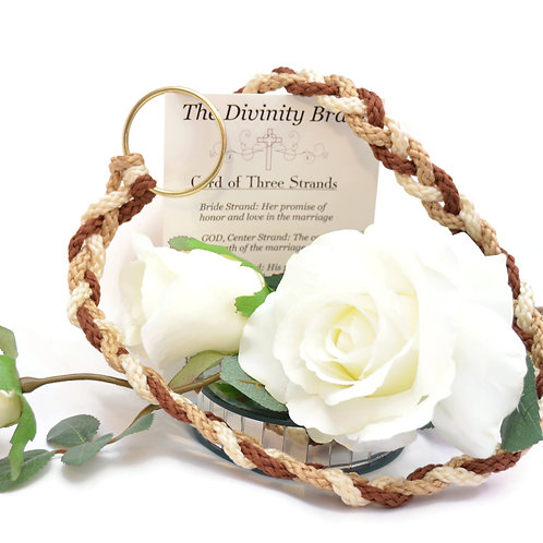 Divinity Braid Cord of Three Strands Golden Rustic #Wedding