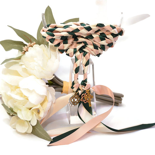 4 Charm Forest Champagne Wedding Handfasting 6ft Cord #Wedding