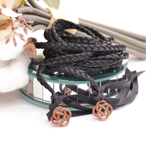 Black Copper Celtic Knot Wedding Handfasting Cord #Wedding #Handfasting