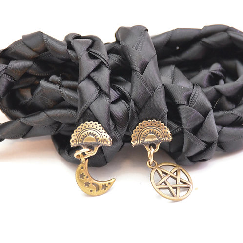 Black Moon Wiccan Wedding Handfasting Cord