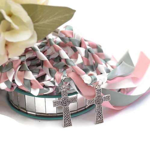Rose Sage  Cross Wedding Handfasting Cord #Wedding #HandfastingCord