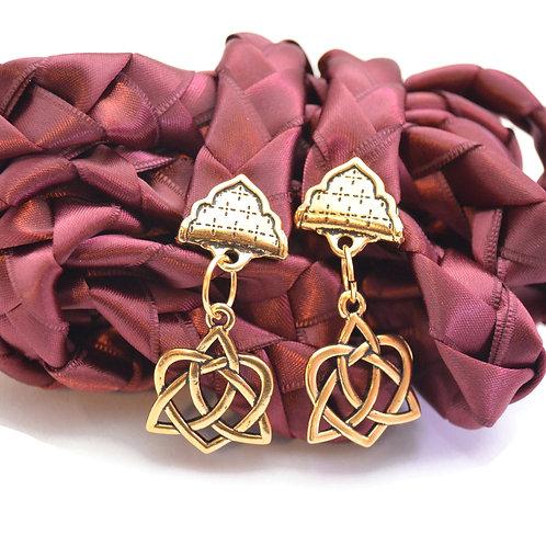 Burgundy Celtic Knot Wedding Handfasting V6 Cord