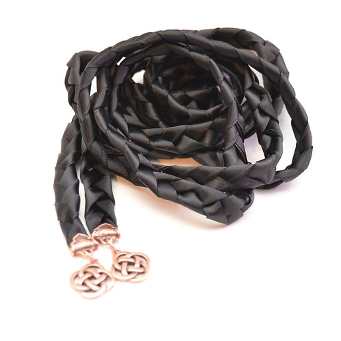 Black Copper Celtic Knot Wedding Handfasting Cord V4