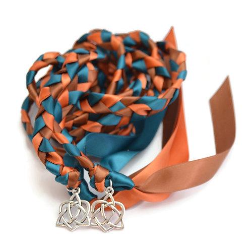 Autumn Promise  Silver Celtic Heart Wedding Handfasting Cord #Wedding