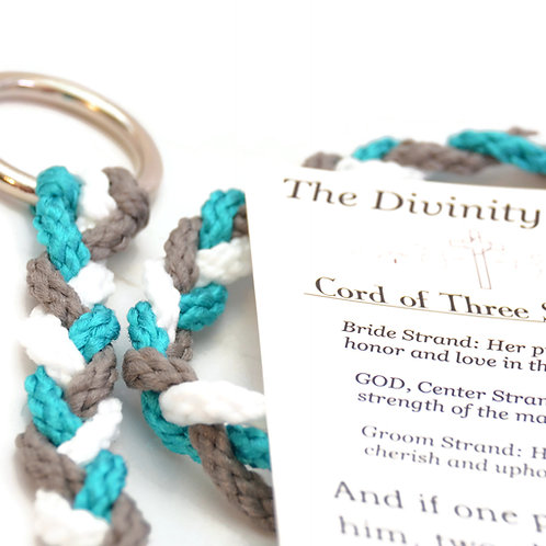 Divinity Braid Cord Of Three Strands Turquoise Pewter #DivinityBraid
