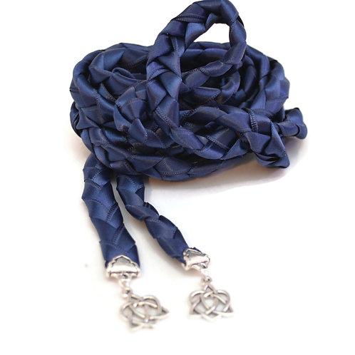 Divinity Braid Navy Celtic Heart Knot Wedding Handfasting Cord