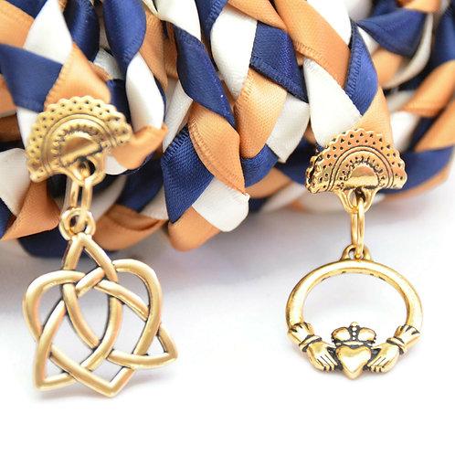 Navy Gold Celtic Promise Handfasting Wedding Cord #Wedding #Handfasting