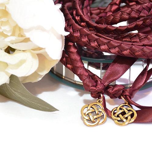 Divinity Braid Burgundy Celtic Knot Wedding V2  Handfasting Cord