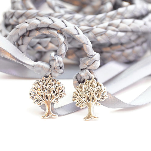 Gunmetal Gray Tree Of Life Handfasting Cord #Wedding #Handfasting