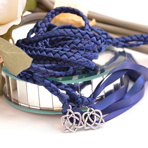 Navy Silver Celtic Hear Wedding Handfasting Cord #Wedding #Hand