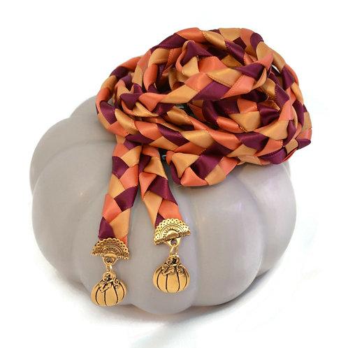 Sangria Autumn Pumpkin Wedding Handfasting Cord #We
