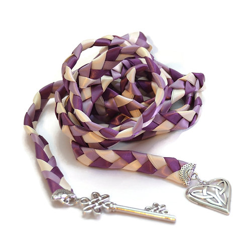 Divinity Braid Amethyst Celtic Key to Love Wedding Handfasting Cord