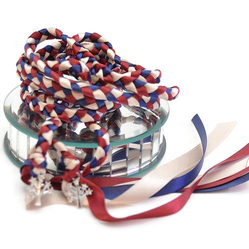 Navy Burgundy Rhinestone Handfasting Cord #Wedding #Handfasting