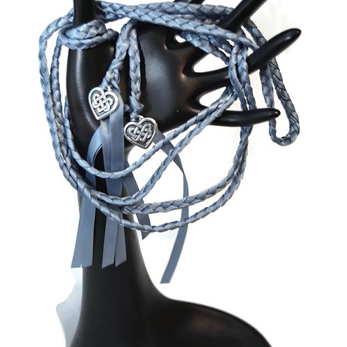 Dusty Blue Celtic Heart Knot Wedding Handfasting 6ft Cord #DivinityBraid #Celtic