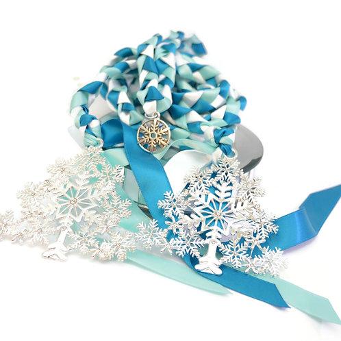 OOAK Limited Edition 3 charm Rhinestone Snowflake Tree Wedding Handfasting Co