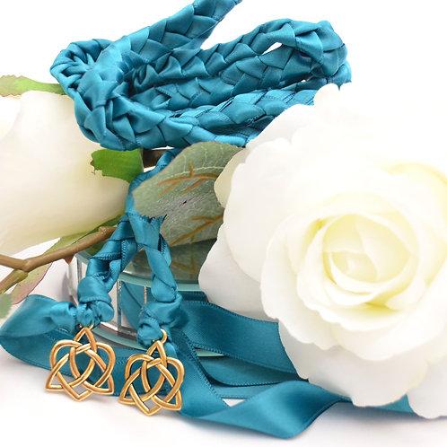Oasis Gold Celtic Heart Knot Wedding Handfasting Cord #Wedding #Handfasting