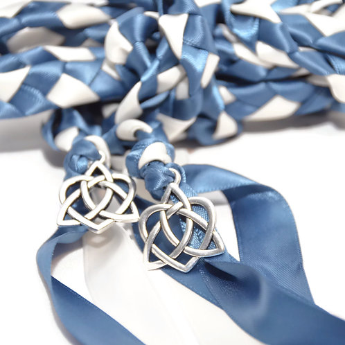 Divinity Braid Steel Blue Silver Celtic Heart Knot Wedding Handfasting Cord