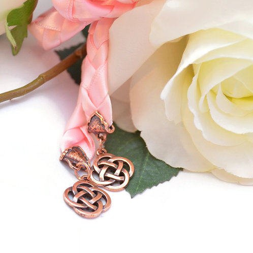 Divinity Braid  Pink Copper Celtic Knot Wedding Handfasting V4 Cord