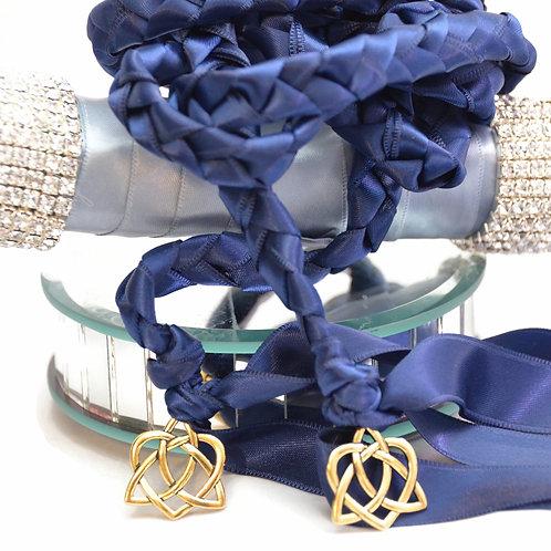 Navy Gold Celtic Heart V3 Wedding Handfasting Cord #Wedding #Handfasting #Celtic