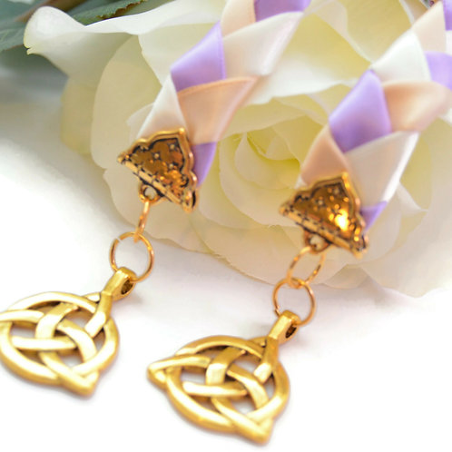 Lilac Gold Celtic Triquetra Wedding Handfasting V6 Cord