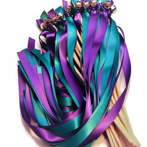 100 Ribbon Bell Wands Oasis & Regency  #WeddingWand