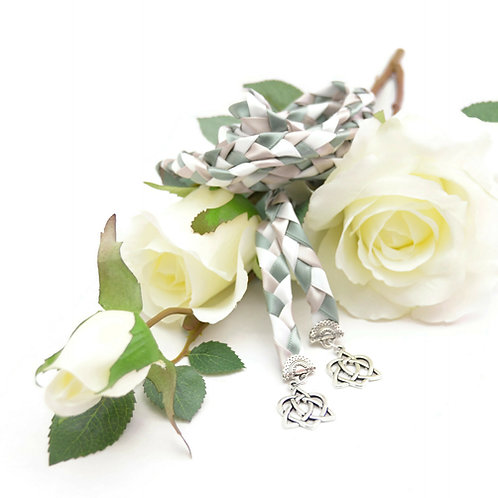 Woodland Sage Heart Knot Wedding Handfasting Cord #Wedding #Handfasting