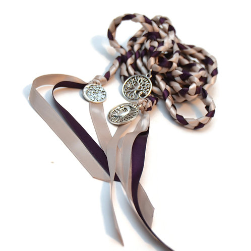 Night & Day 3 Charm Wedding Handfasting Cord #DivinityBraid #Handfastin