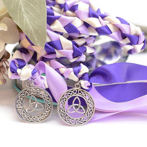 Purple Theme Celtic Infinity Knot Wedding Handfasting Cord #HandfastingCord